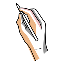 Artist hand pen stroke