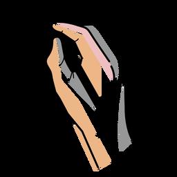 Traço de caneta de mão de artista