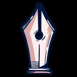 Traço de caneta-tinteiro de bico de artista