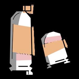 Trazo de tubos de pintura de artista