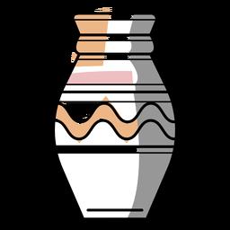 Trazo de jarrón de artista