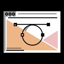 Trazo de aplicación de vector de artista