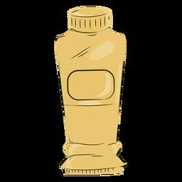 Cor do tubo de tinta amarela do artista