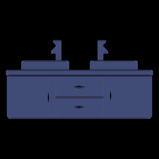 Bathroom cabinet monochrome