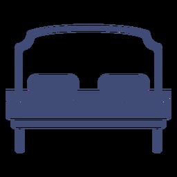 Muebles de cama monocromos