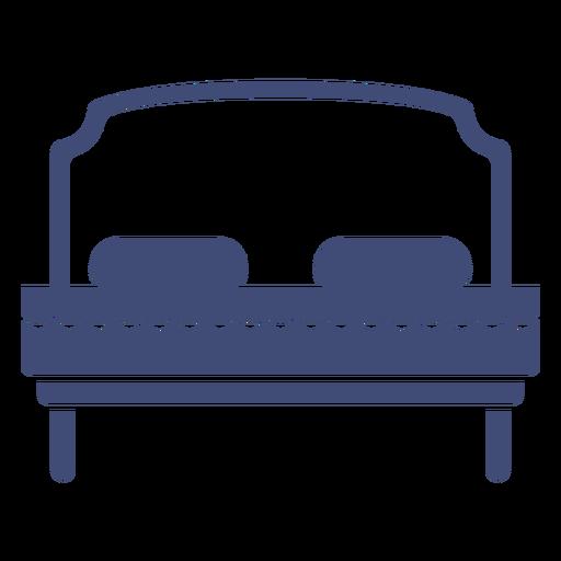 Bed furniture monochrome Transparent PNG