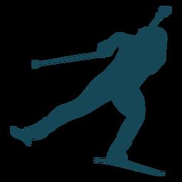 Biathlonist silhouette balance