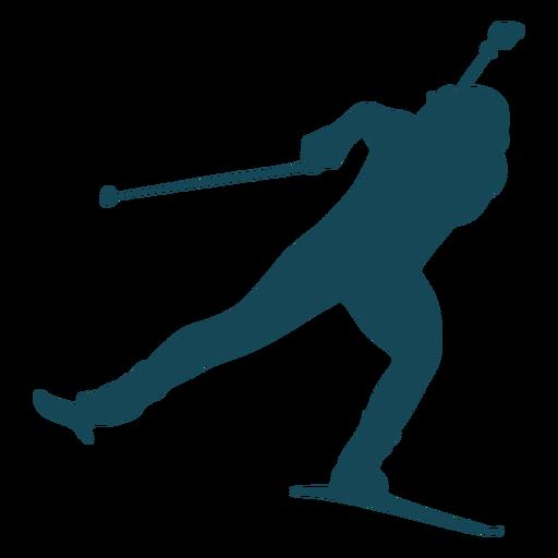 Equilibrio de silueta de biatlón