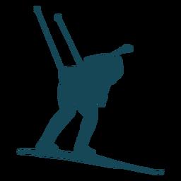 Biathlonist silhouette bend over