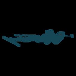 Biathlonist silhouette lying