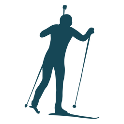 Biathlonist silhouette movement