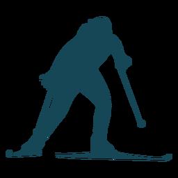 Biathlonist silhouette moving