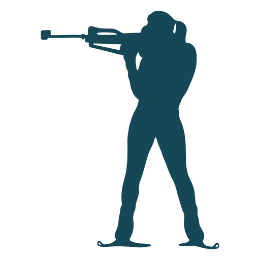 Biathlonist silhouette shooting Transparent PNG