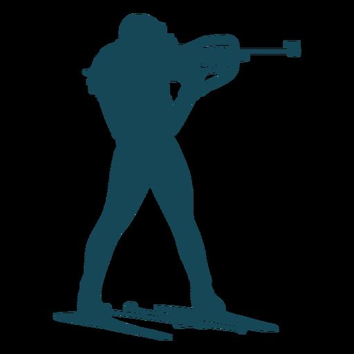 Biathlonist silhouette shooting man Transparent PNG