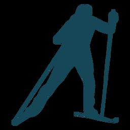 Biathlonist silhouette sport