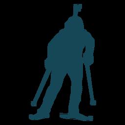 Biathlonist silhouette standing