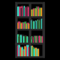 Bookshelves color full