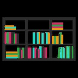 Bookshelves color horizontal