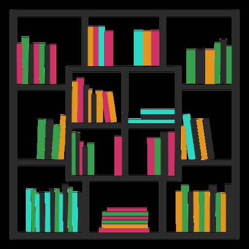 Bookshelves color square