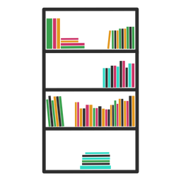 Bookshelves color vertical