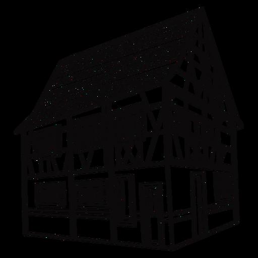 Building house stroke Transparent PNG