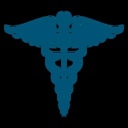 Caduceo símbolo monocromo