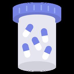 Envase de pastillas cápsulas plano