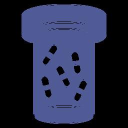 Cápsulas píldoras envase monocromo
