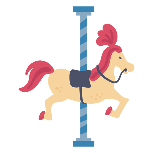 Carrusel de carnaval color caballo