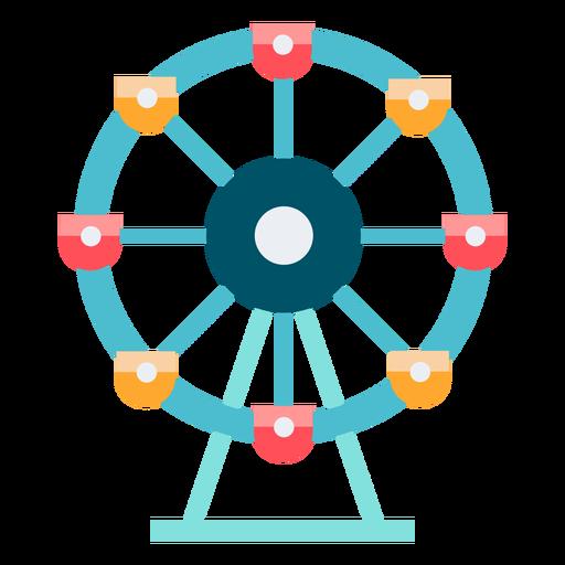 Carnival ferris wheel color