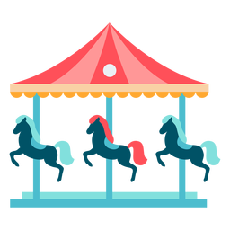 Color de carrusel de caballos de carnaval