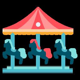 Cor do carrossel de cavalo de carnaval
