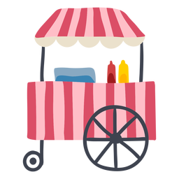 Carnival hot dog cart color