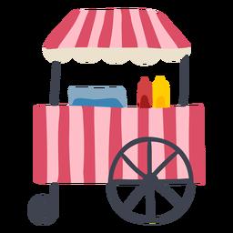 Cor de carrinho de cachorro-quente de carnaval