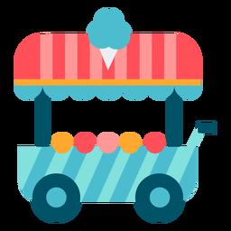 Color de carro de helado de carnaval