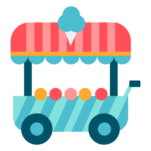 Carnival ice cream cart color