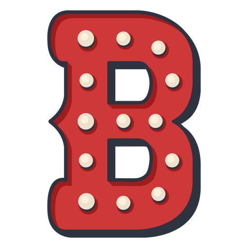 Carnival letter b color