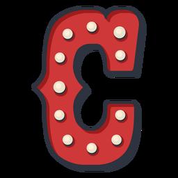 Carnival letter c color