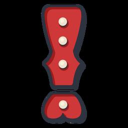 Color de marca de exclamación de carta de carnaval