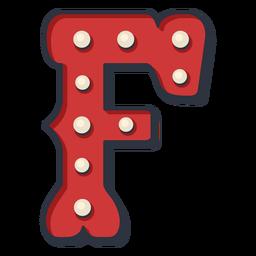 Carnival letter f color