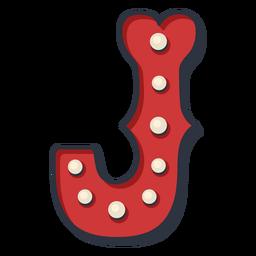 Carnival letter j color