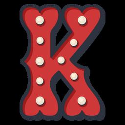 Carnival letter k color