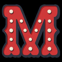 Carnival letter m color