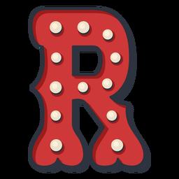 Carnival letter r color