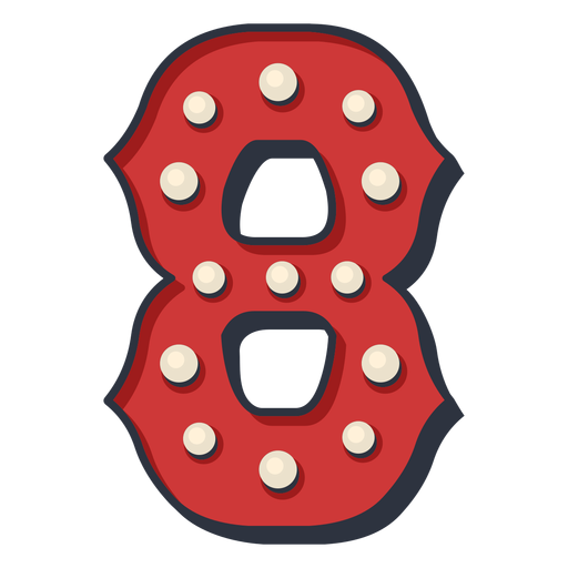 Carnival number eight color Transparent PNG