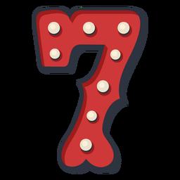 Carnaval número siete color