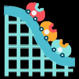 Carnival roller coaster color carnival