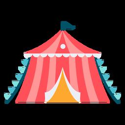Pequena tenda de carnaval colorida