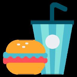 Carnaval color de la hamburguesa con soda