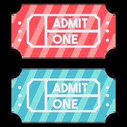 Karneval Tickets Farbe